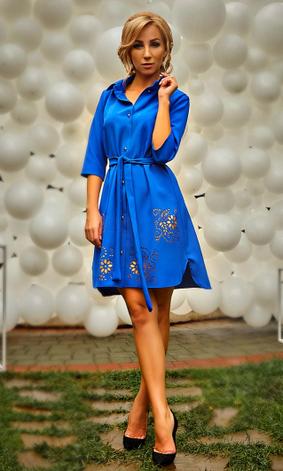 """Платье-рубашка с перфорацией """"Глория"""" , фото 2"""