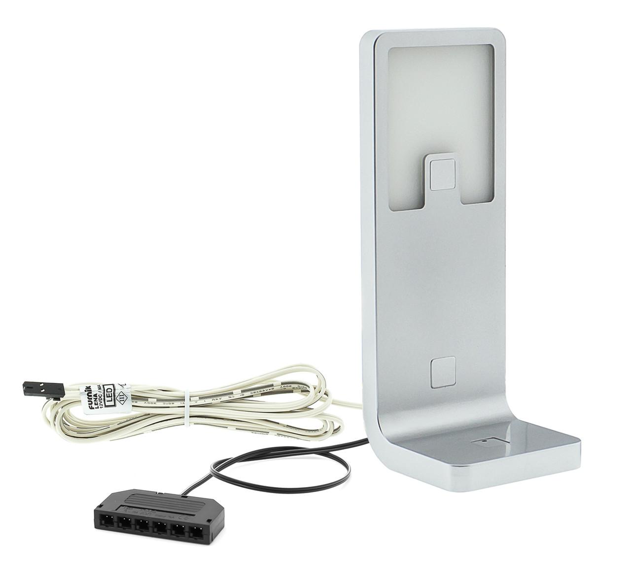 Светильник LED мебельный LENA алюминий холодный белый