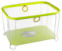 Манеж Qvatro Солнышко-02 мелкая сетка желтый слон Dumbo