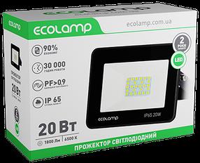 LED-прожектор ECOLAMP 20W -1800lm-6500K-IP65