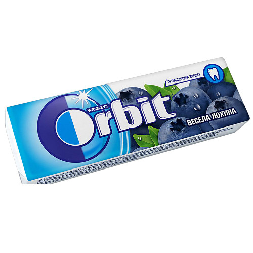Орбит / Orbit жевательная резинка Веселая голубика 14гр/30шт