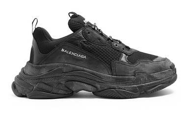 Кроссовки Мужские Balenciaga Triple S Sneaker ALL Black Черные