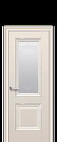 Дверь Имидж. Со стеклом сатин и рисунком. Отделка молдингом. Коллекция ELEGANT (ЭЛЕГАНТ). Новый стиль.