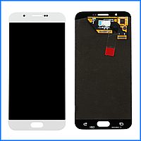 Дисплей (экран) для Samsung A800F Dual Sim Galaxy A8 + тачскрин, белый, оригинал