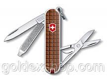 Нож Складной Мультитул Викторинокс Victorinox CLASSIC CHOCOLATE (58мм, 7 функций), с чехлом, коричн 0.6223.842