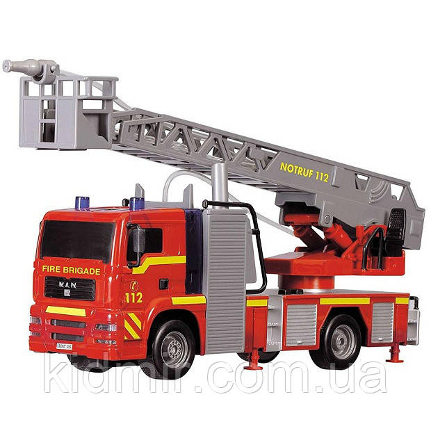 Іграшкова Пожежна машинка 31 см (світло, звук, бризкає водою) City Fire Engine Dickie 3715001