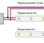 Как подключить светодиодную ленту? Схема подключения светодиодной ленты