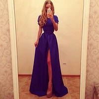 Платье в пол с шикарным разрезом