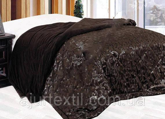 """Плед Листочок"""" темний шоколад, фото 2"""