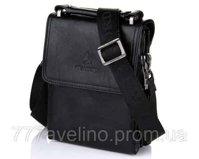 Мужская сумка через плечо bradford 18688-1 черная
