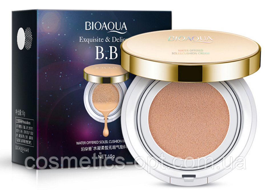 BB кушон BIOAQUA Exquisite and Delicate BB Cushion