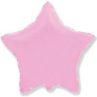 Шарик фольгированный Звезда розовая пудра  1343