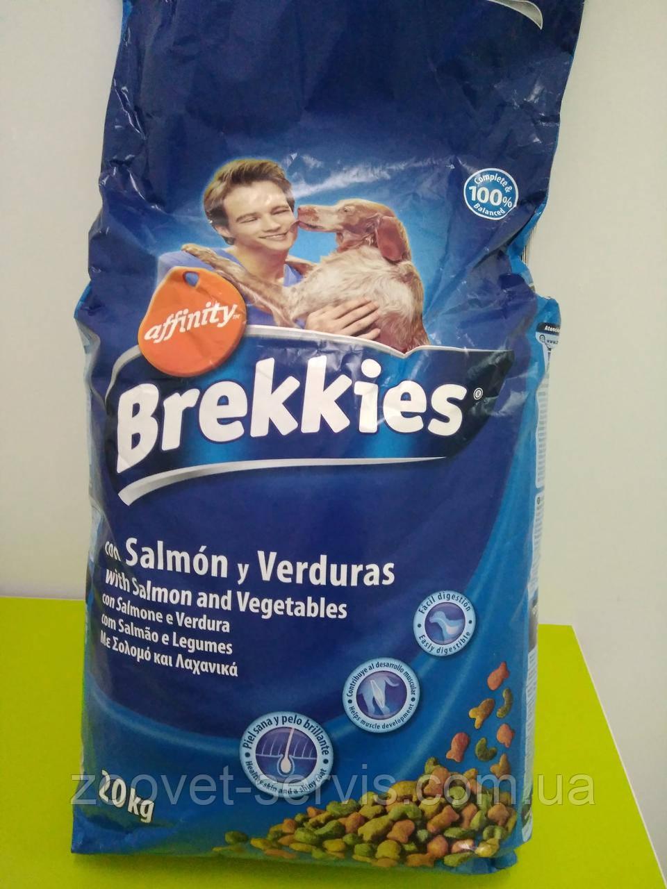 Корм Brekkies (Брекис) Excel Mix для собак с лососем и овощами 20 кг