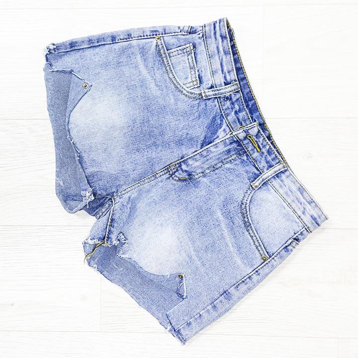 Шорты джинсовые голубые - 534-208-2