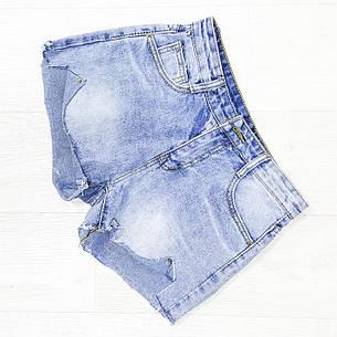 Шорты джинсовые голубые - 534-208-2, фото 2