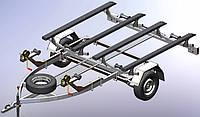 Прицеп для перевозки двух гидроциклов