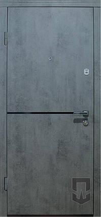 ПТ Лита black+декор / Лита+Al (бетон темн./бетон пепел.) 880/980*2070, фото 2
