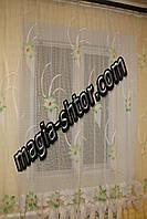 Тюль зеленый цветок, фото 1