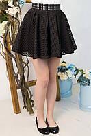 Школьная юбка для девочки клеш черная