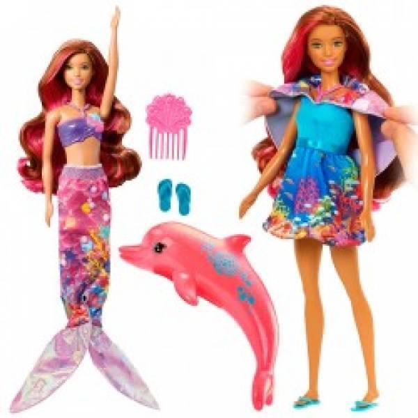 """Русалочка Барбі Чарівна трансформація з м/ф """"Магія Дельфінів/Barbie Dolphin Magic Transforming Mermaid Doll"""
