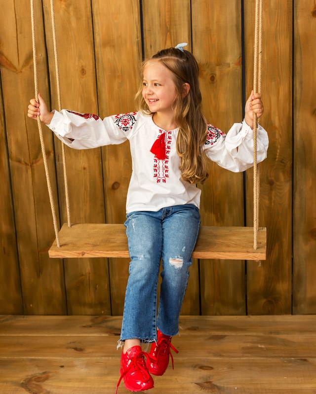 Вышиванка для девочки с стиле бохо Жарптица