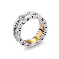 Кольцо Bvlgari ювелирная бижутерия золото 18к 750 проба родий цирконий