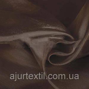 Тюль микровуаль темно коричневая