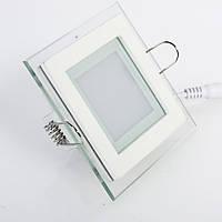 Светильник светодиодный в стекле 12Вт 4000К квадрат GL-S6 Biom , фото 1