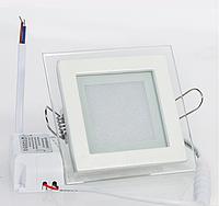 Светильник светодиодный в стекле 6Вт 4000К квадрат GL-S6 Biom , фото 1
