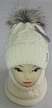 Комплект шапка с бубоном и баф зимний, акрил флис, люрекс,, разные цвета, фото 2