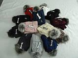 Комплект шапка с бубоном и баф зимний, акрил флис, люрекс,, разные цвета, фото 5
