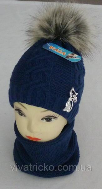 Комплект для девочки зимний м 6113, р3-12 лет разные цвета