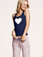 Пижама  Victoria's Secret белое сердце