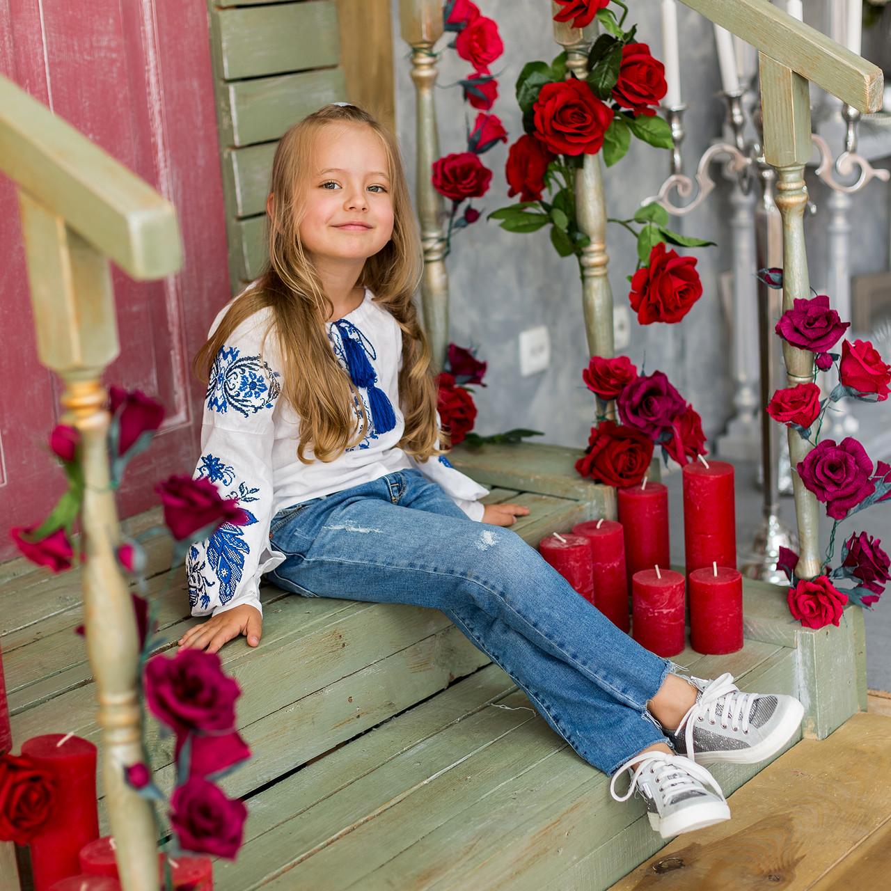 Блуза с вышивкой для девочки с стиле бохо Жарптица