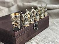 Стопки бронзоые перевертыши Люкс Nb Art Щука 6 шт 48440027