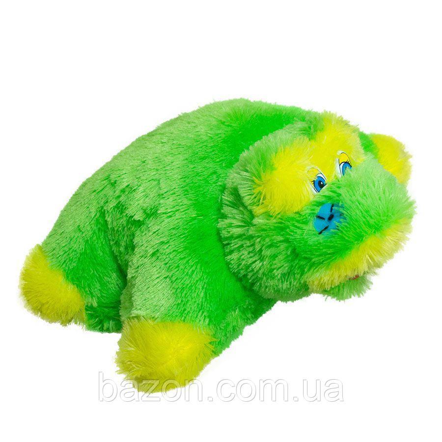 Мягкая игрушка Подушка трансформер лягушка травка