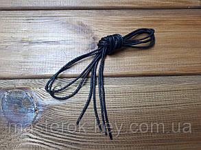 Шнурки обувные круглые с пропиткой 70см цвет черный (1.2.0)