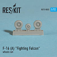 "General Dynamics F-16 (A) ""Fighting Falcon"" wheels set 1/72 RES/KIT 72-0023"