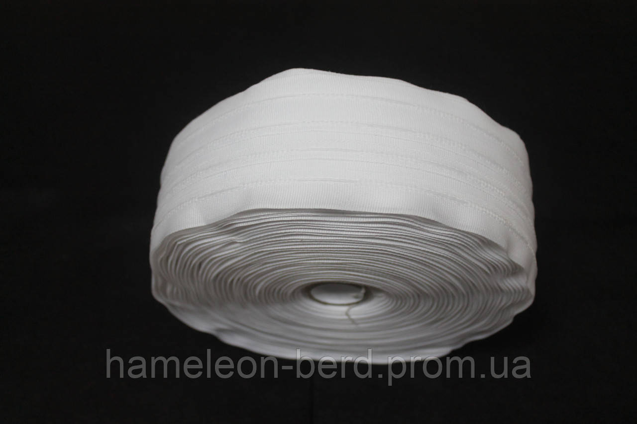 Тесьма для штор белая широкая