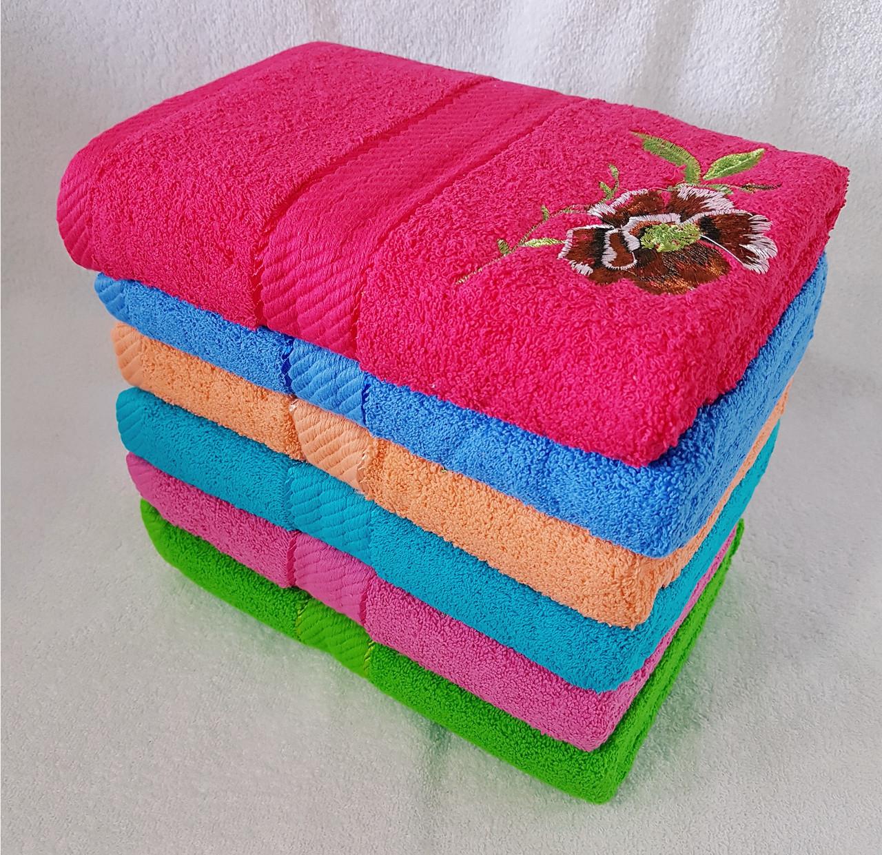 """Банное полотенце """"Мак"""" Размер: 140 * 70"""