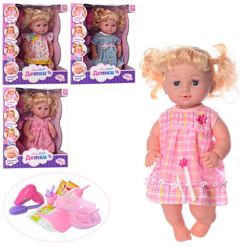 Пупс кукла 39 см сестричка беби берн (baby born) с аксессуарами, горшок, бутылочка, тарелка, R317008A3-5-11-17