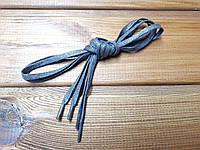 Шнурки обувные плоские с пропиткой 100см цвет серый (2.5)