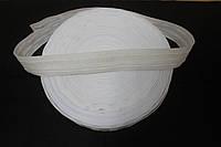 Тесьма для штор белая средняя