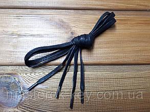 Шнурки обувные плоские с пропиткой 120см цвет черный (2.5)