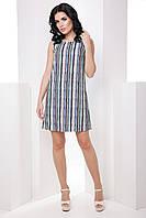 Стильное классическое прямое женское платье из ткани soft 7058/7, фото 1
