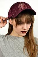 Женская кепка NY марсала