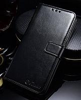 Кожаный чехол-книжка для Huawei Honor 10 черный