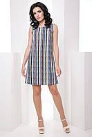 Стильное классическое прямое женское платье из ткани soft 7058/8, фото 1