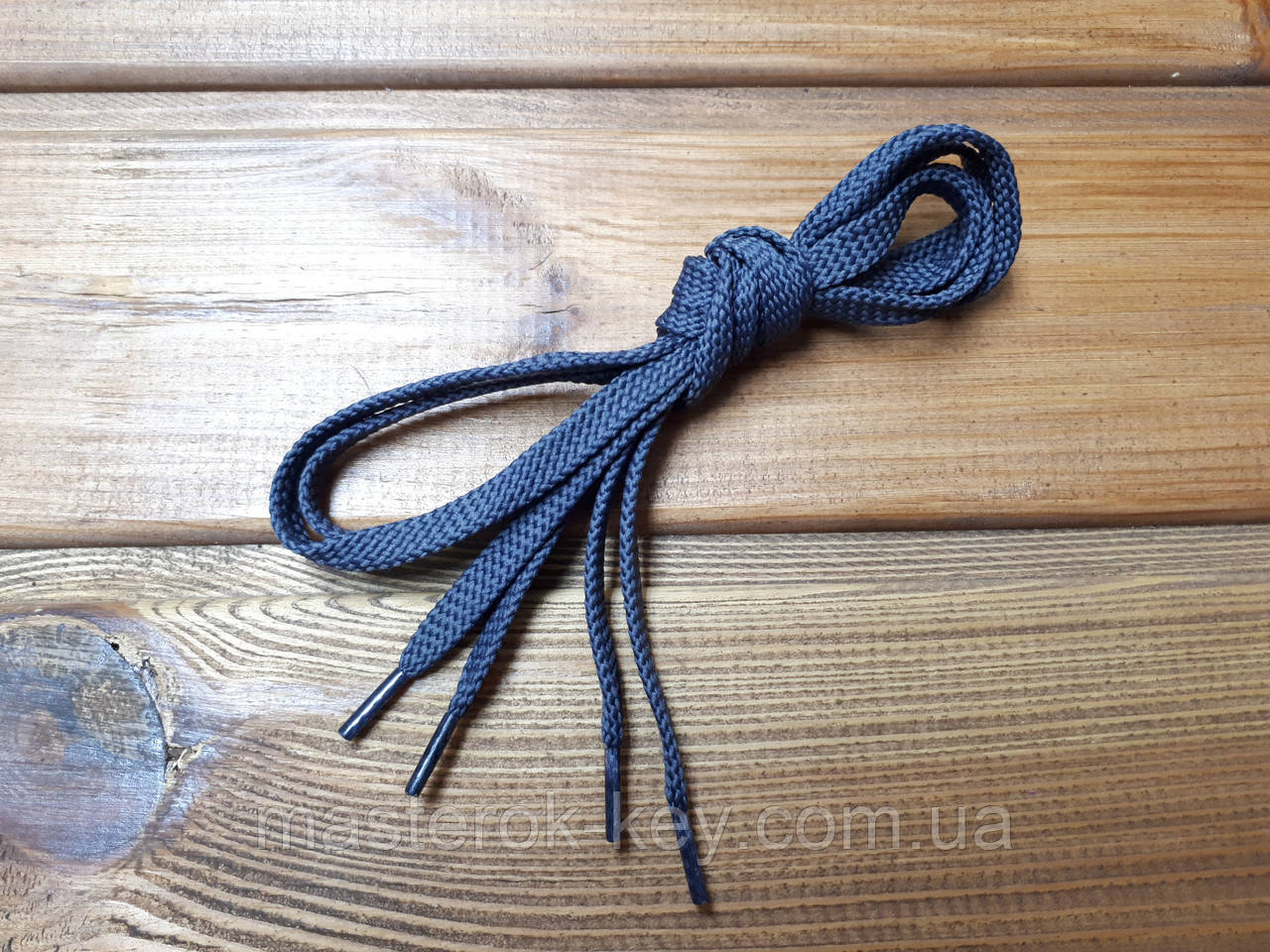 Шнурки взуттєві плоскі 100см колір сірий (4.7)