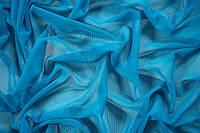 Сетка трикотажная голубая.